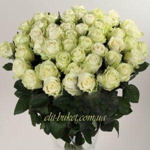 """Букет из белых роз сорт """"Аваланч"""