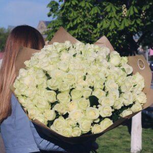 "Букет роз ""Аваланч"" 101 роза"
