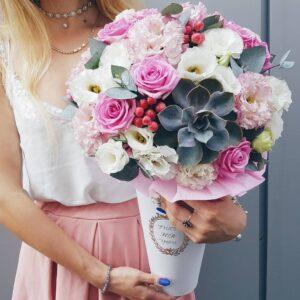 Конус с эхиверией в розовых тонах