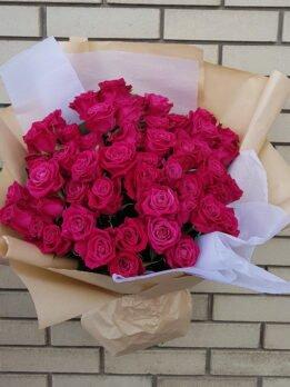 Букет из 51 бордовой розы Шангри Ла